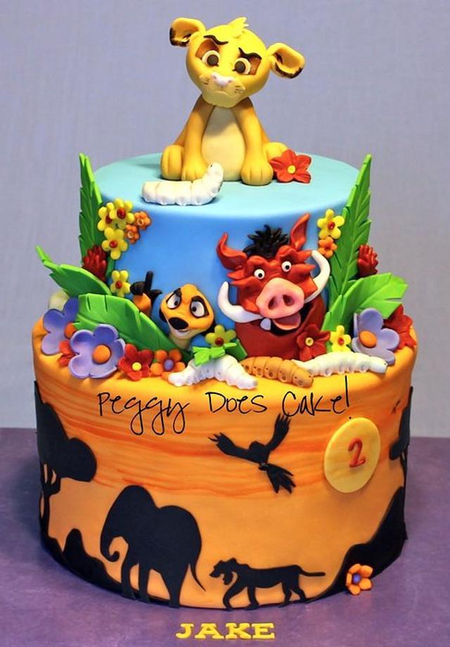 Lion King Cake Cake By Peggy Does Cake Cakesdecor
