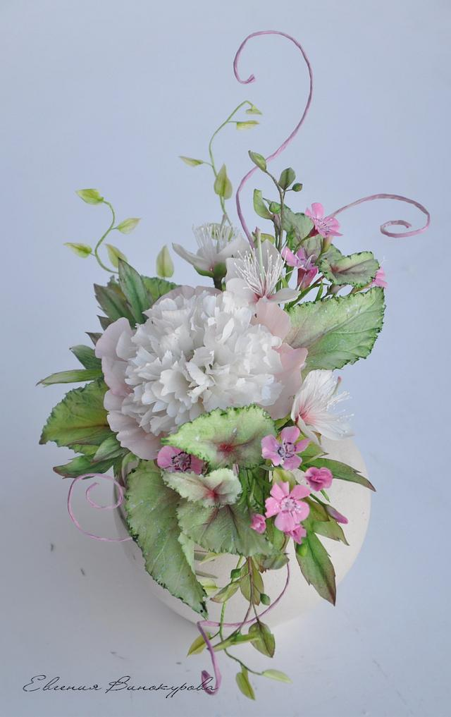 Bouquet with peonies