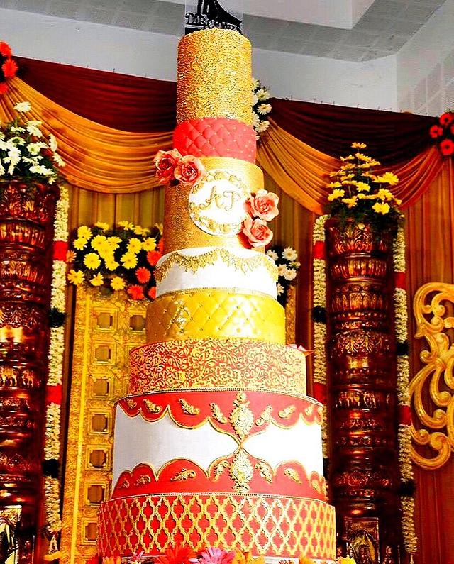 The Big Fat And Tall Indian Wedding Cake ❤️