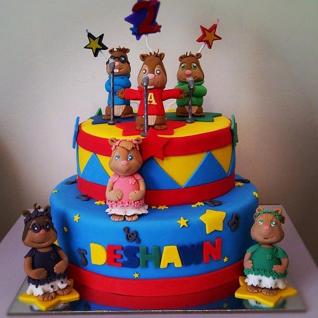 Cool Alvin And The Chipmunks Cake Cake By Novita Cakesdecor Funny Birthday Cards Online Alyptdamsfinfo