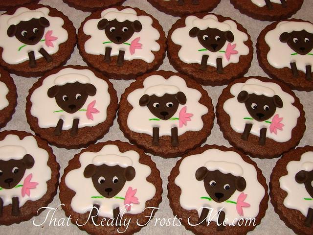 Little Lamb Easter Cookies