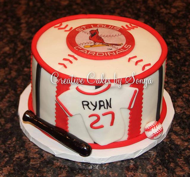 Cool St Louis Cardinals Birthday Cake Cake By Sonya Cakesdecor Funny Birthday Cards Online Fluifree Goldxyz