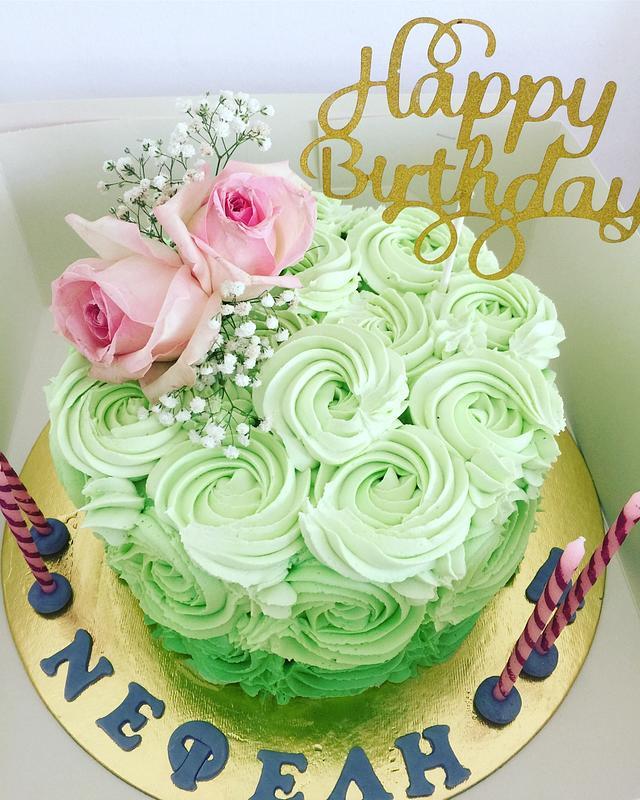 Rossettes cake