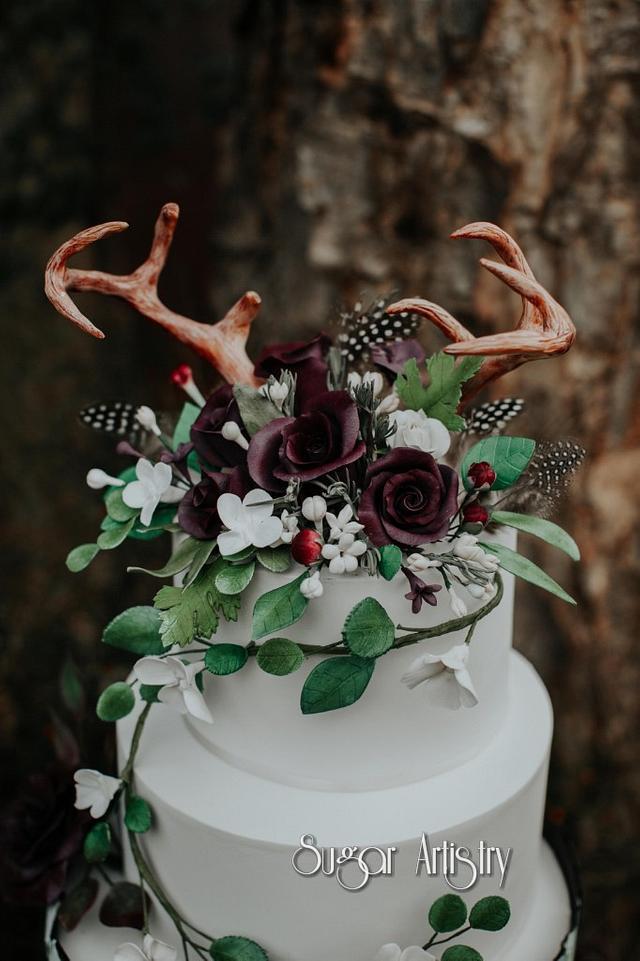 Natural Boho Wedding Cake