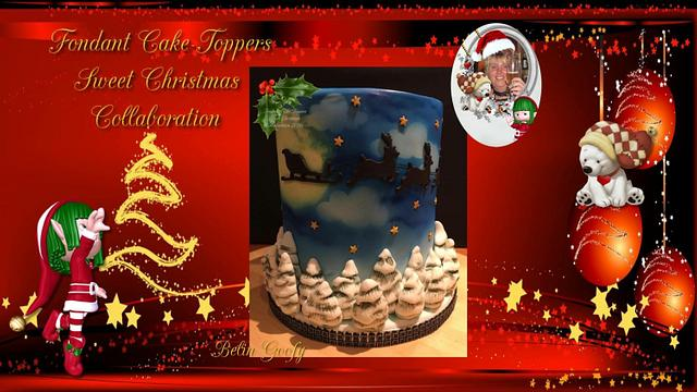 #Fondant Cake Topper Sweet Christmas Collaboration