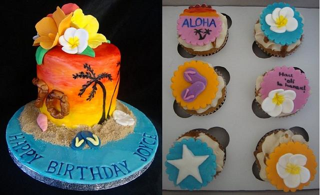 Admirable Hawaii Themed Birthday Cake Cake By Songbirdsweets Cakesdecor Funny Birthday Cards Online Overcheapnameinfo
