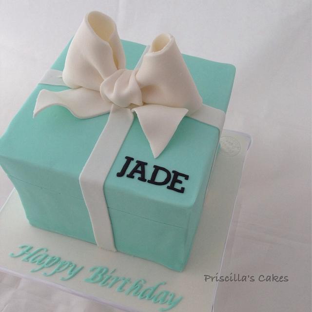 Tiffany inspired birthday cake