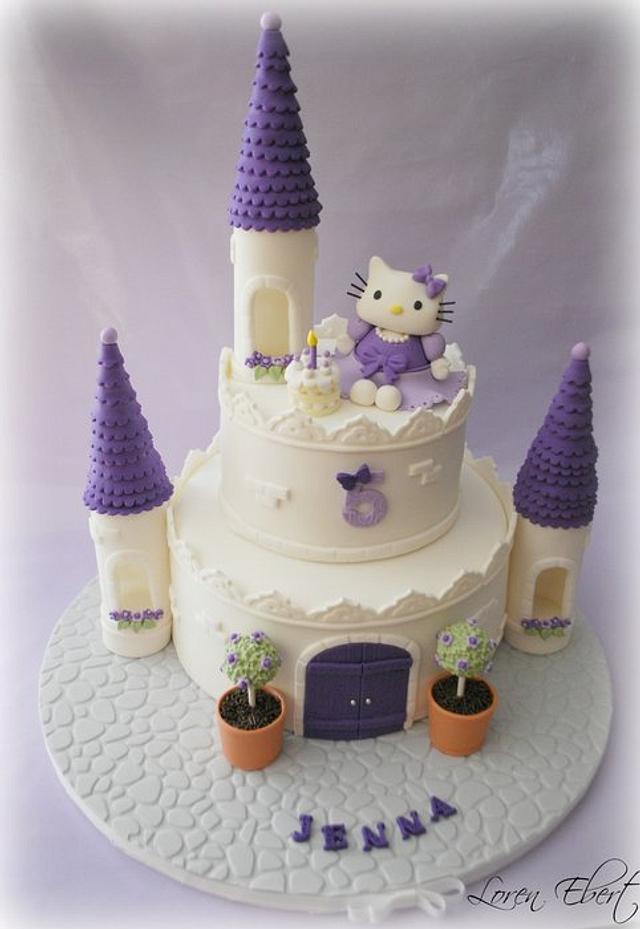 Hello Kitty Castle Cake