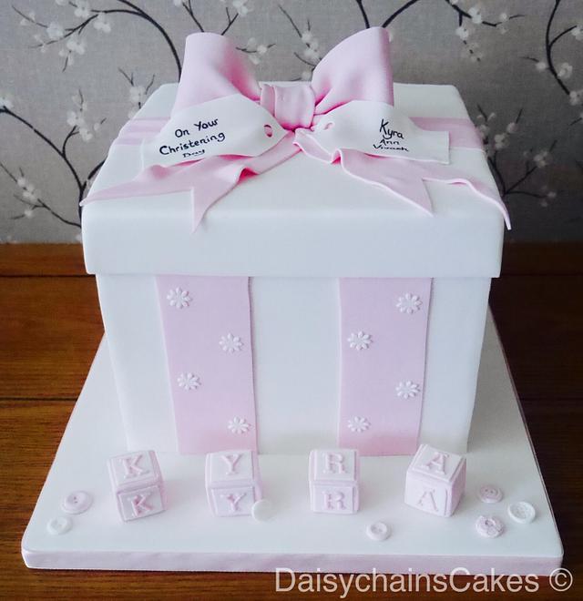 Christening gift cake