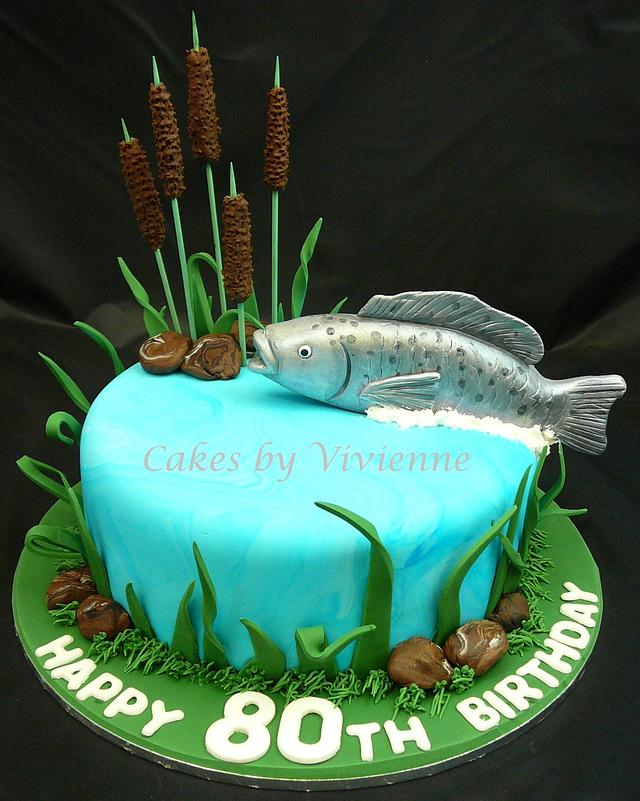 Groovy Fish Birthday Cake Cake By Cakes By Vivienne Cakesdecor Personalised Birthday Cards Epsylily Jamesorg
