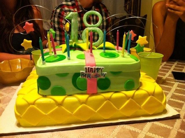 18th Present Birhday Cake
