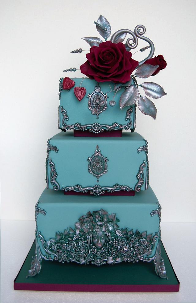 Bas relief wedding cake.