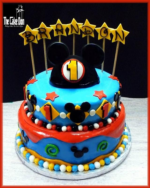 THE MICKEY MOUSE 1st BIRTHDAY CAKE