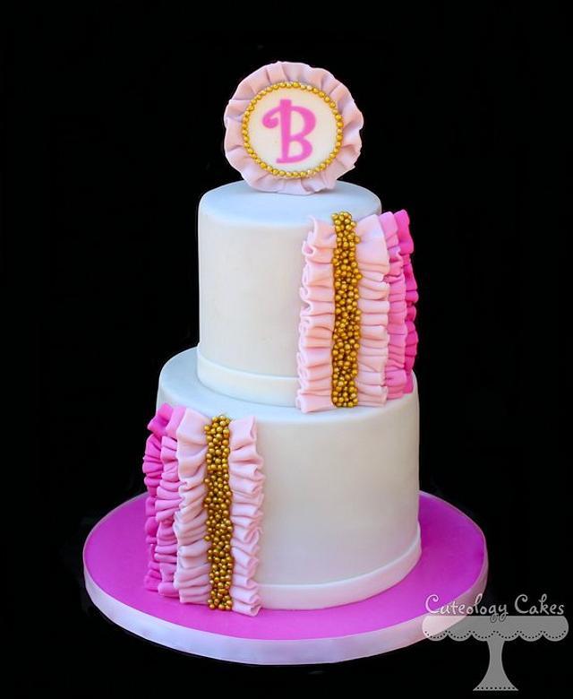 Girly Ruffle Cake