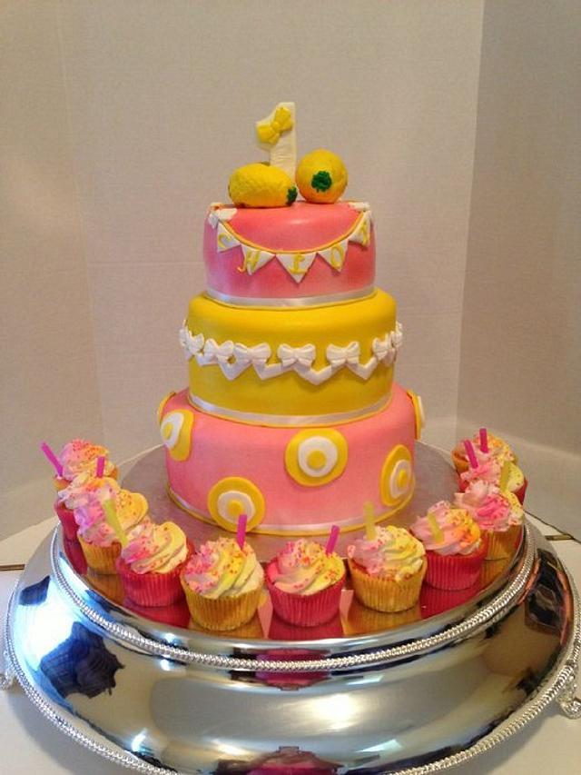 Fabulous Pink Lemonade Birthday Cake Cake By Teresa Markarian Cakesdecor Funny Birthday Cards Online Drosicarndamsfinfo