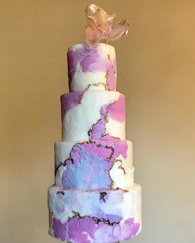 Kintsugi rough stone cake