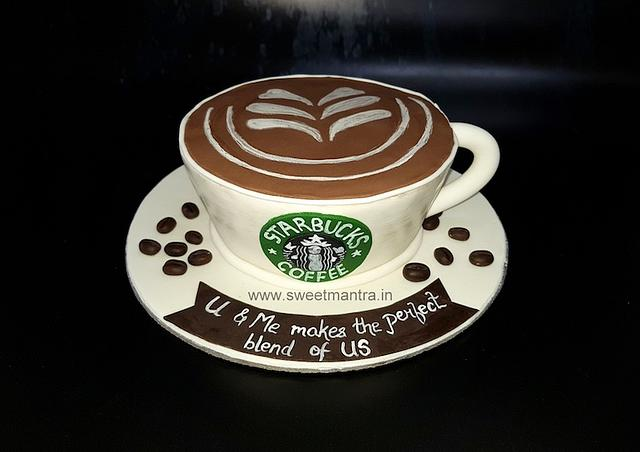 Stupendous Starbucks Coffee Theme Shaped Customized 3D Designer Cakesdecor Funny Birthday Cards Online Elaedamsfinfo