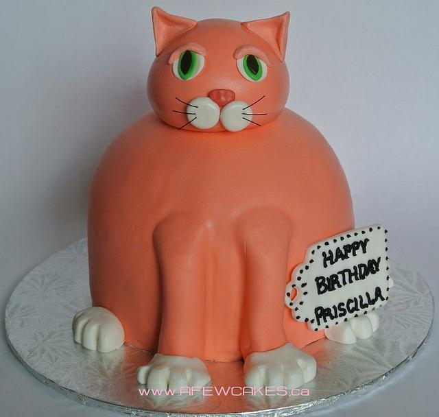 Fabulous Fat Orange Cat Birthday Cake Cake By Amanda Cakesdecor Funny Birthday Cards Online Necthendildamsfinfo
