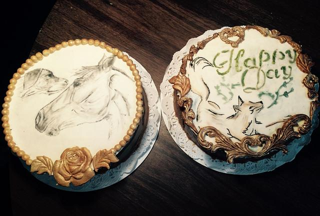 Fox hunting cakes