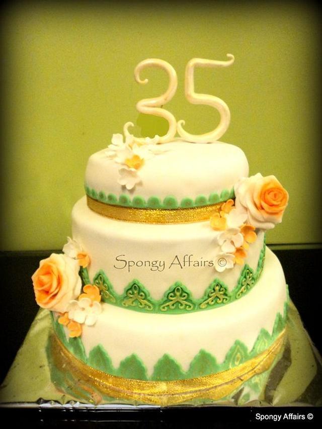 35th Anniversary cake!
