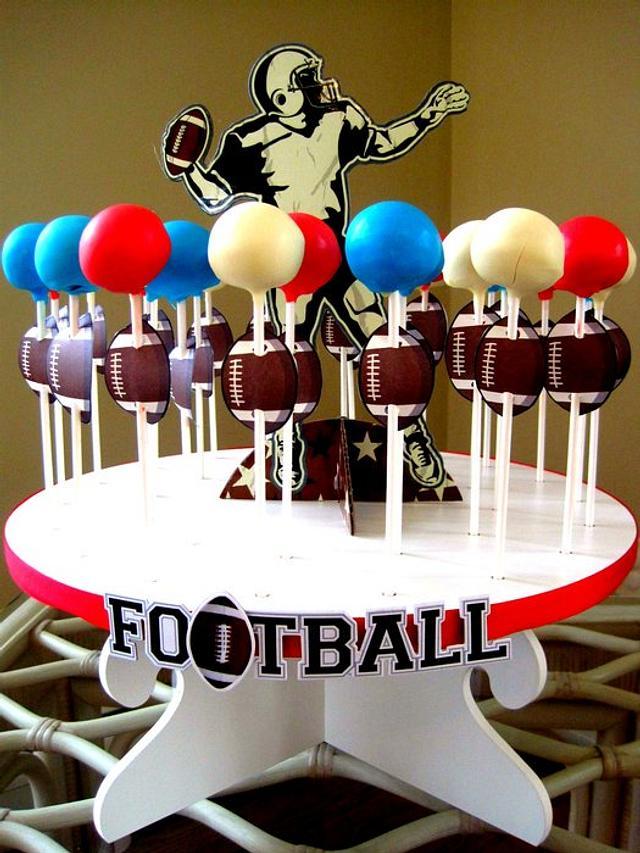 Superbowl cake pops!