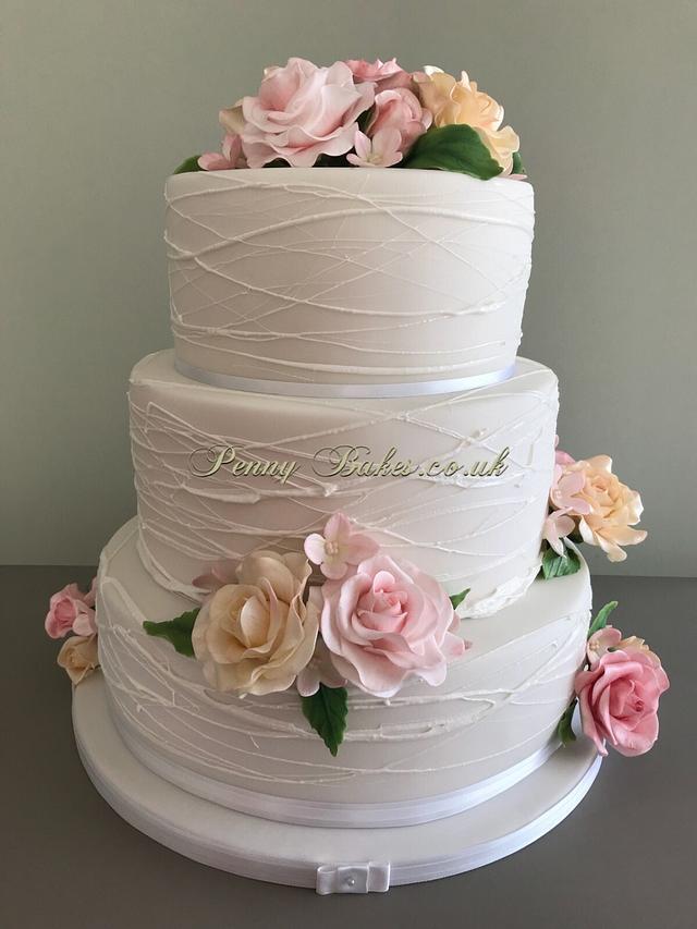 Pastel rose's Wedding cake.