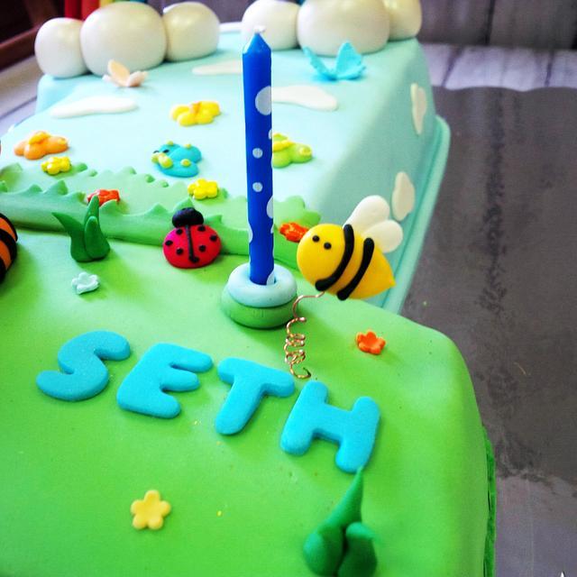 Pooh & Tiger 1st Birthday Cake