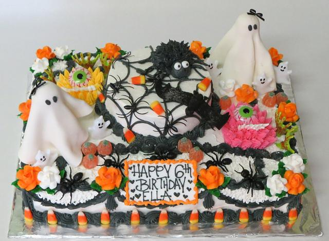 Outstanding Halloween Themed Birthday Cake Cake By Cakes Etcetera Cakesdecor Funny Birthday Cards Online Fluifree Goldxyz