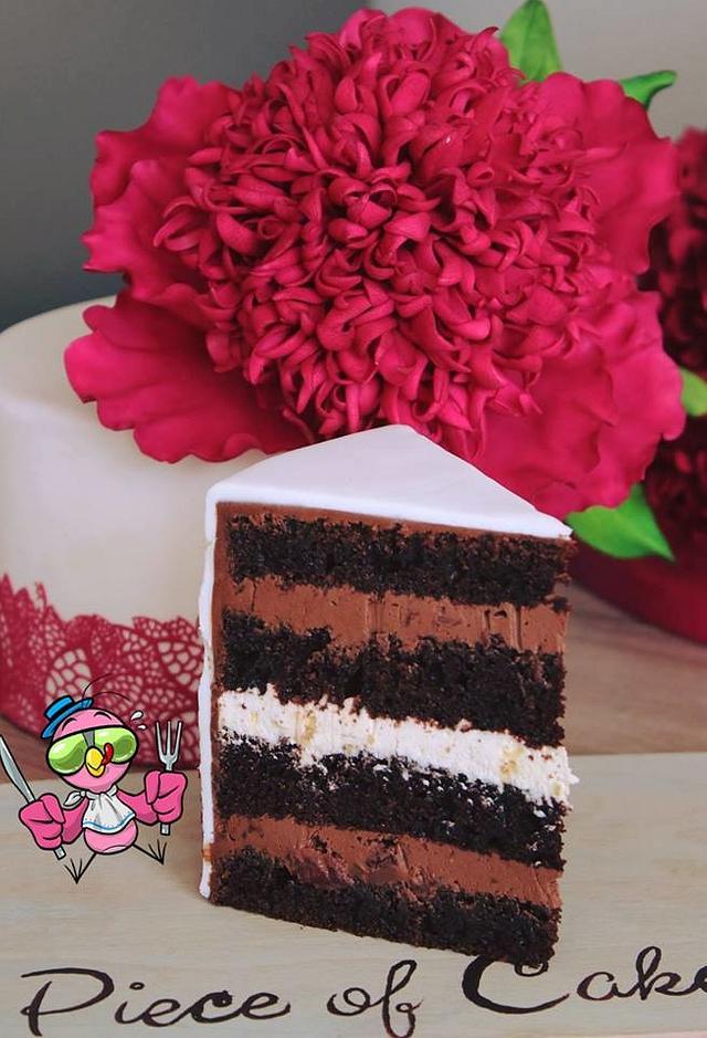 Peony colorfoul cake