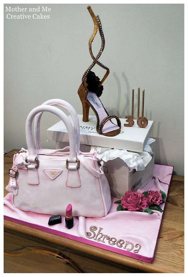 Bag and Shoe 30th Cake