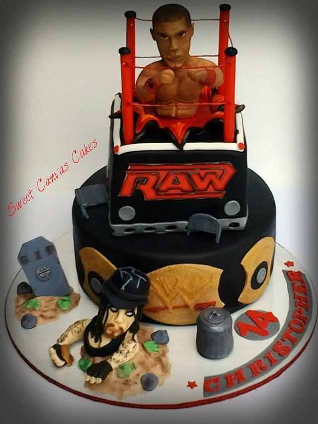 Terrific Wwe Birthday Cake Cake By Suzie Wilcox Cakesdecor Funny Birthday Cards Online Inifodamsfinfo