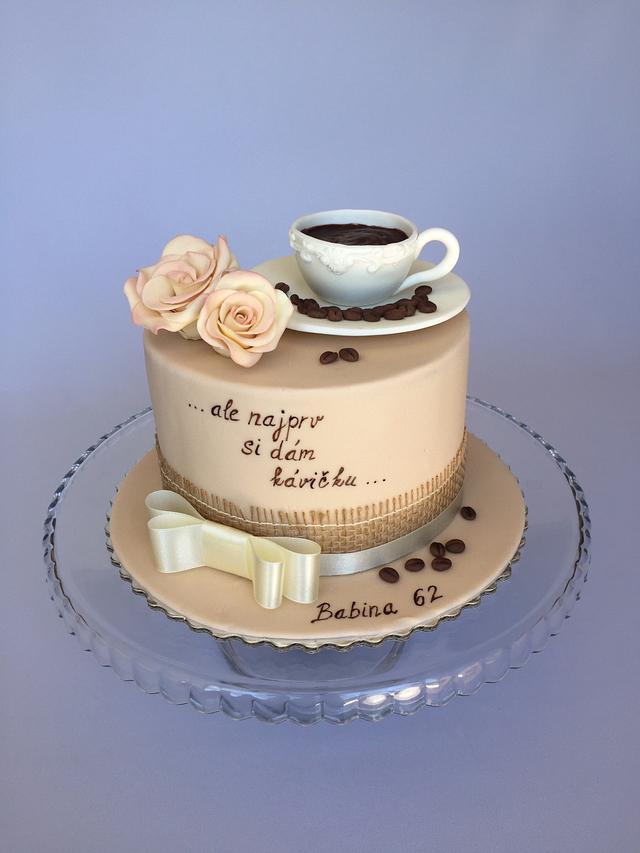 Terrific Coffee Birthday Cake Cake By Layla A Cakesdecor Funny Birthday Cards Online Kookostrdamsfinfo