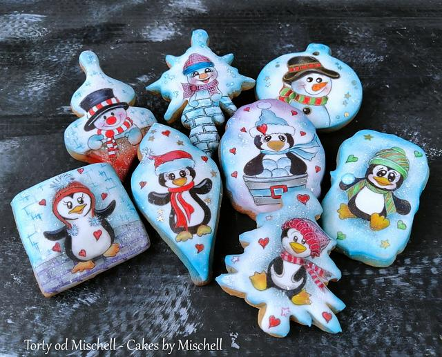 Penguins and snowmans
