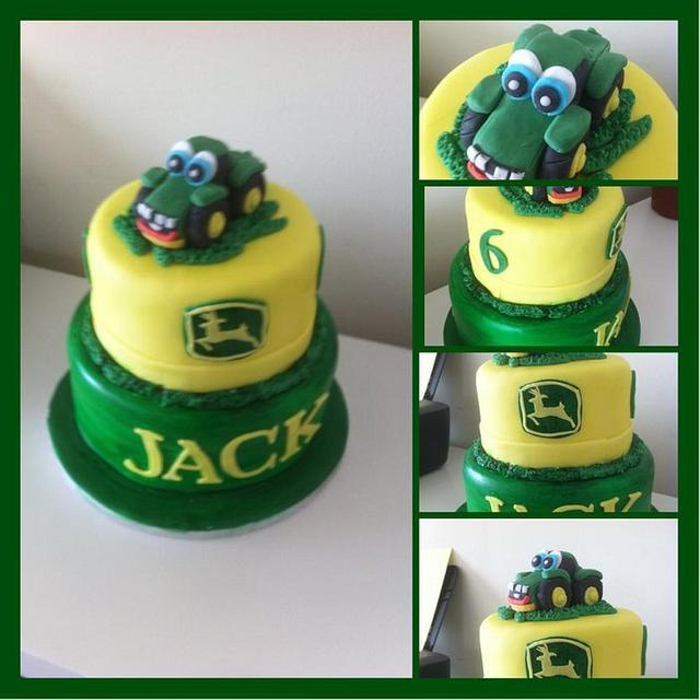 Cool John Deere Tractor Cake Cake By Witty Cakes Cakesdecor Funny Birthday Cards Online Amentibdeldamsfinfo