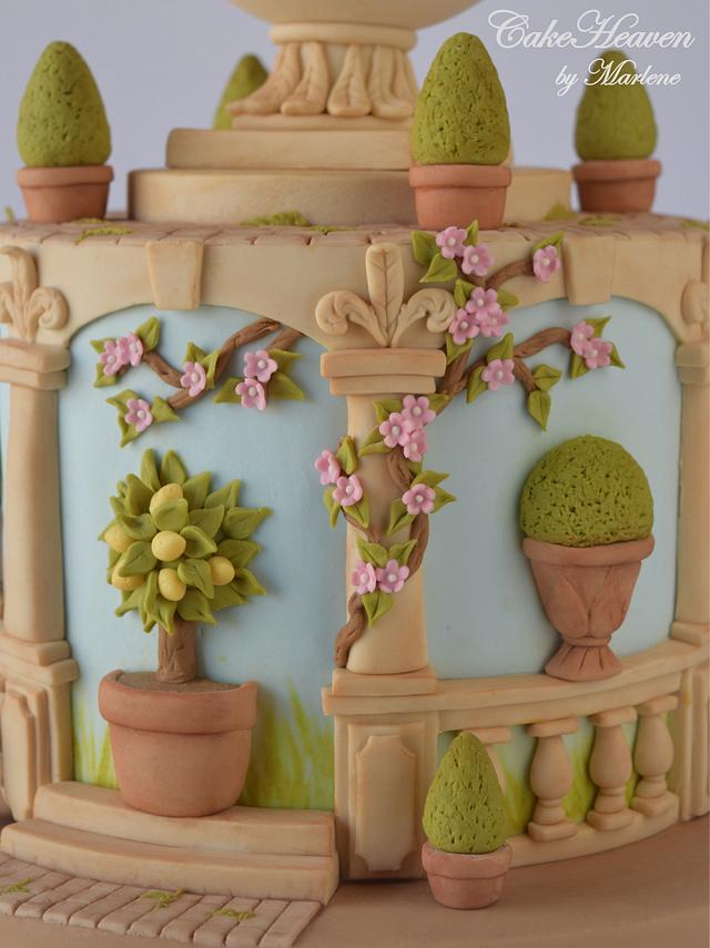 My Italian Garden Cake - Gardens of the world Collaboration