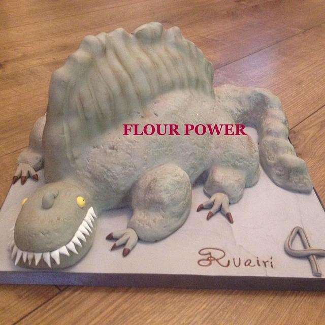 Spinosaurus Dinosaur cake