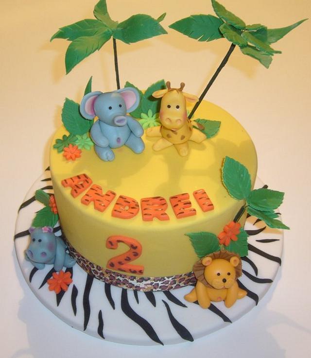 Animal print - birthday cake