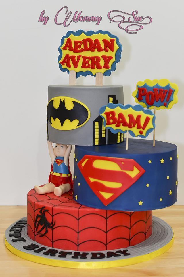 "Super Kid ""Defying Gravity"" Cake"