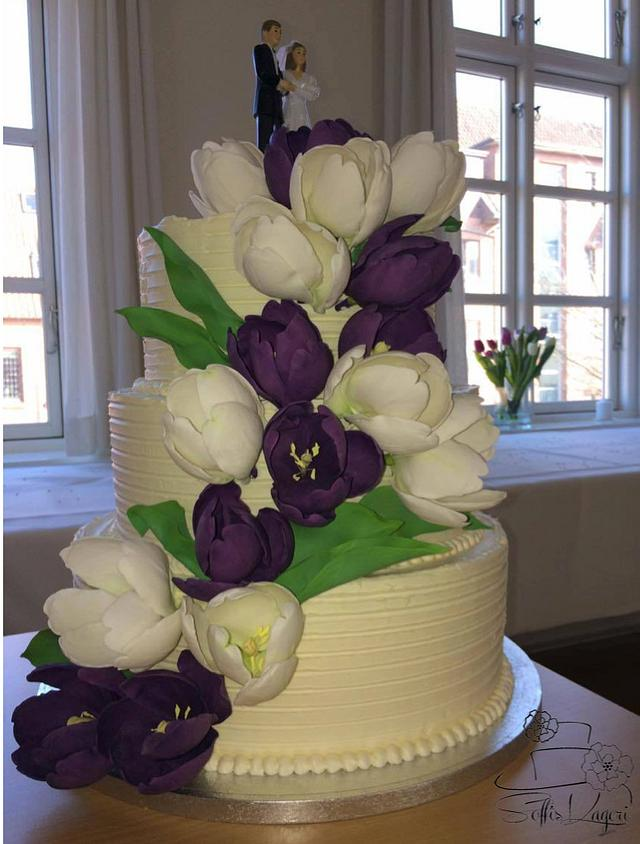 Tulip weddingcake