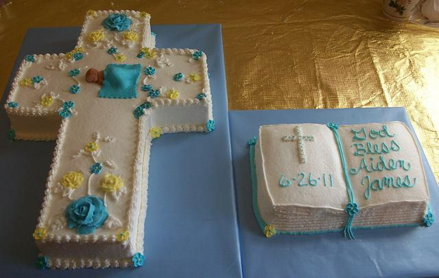 Cross & Bible Cake