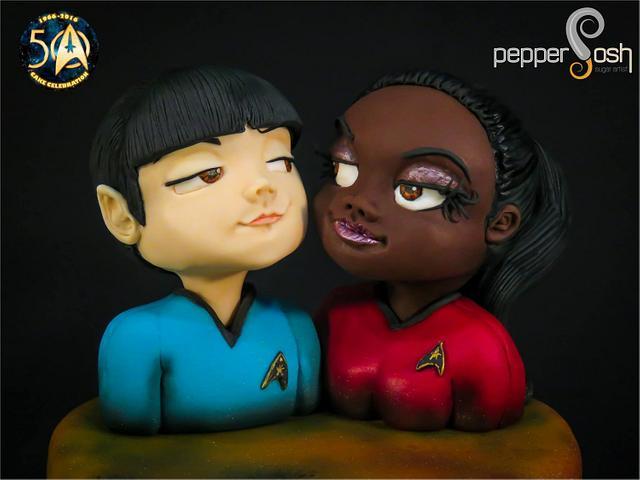 Spock and Uhura @Star Trek 50 - Cake Celebration