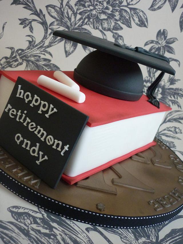 Headmaster retirement cake