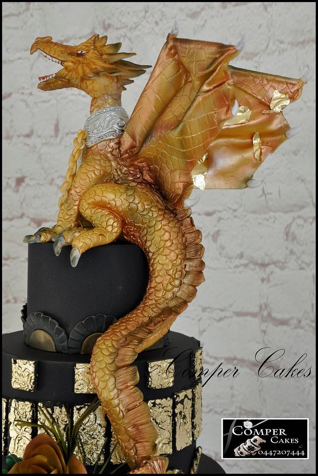 Dragon wedding cake Perth Royal Show 2016 Master Section - Gold