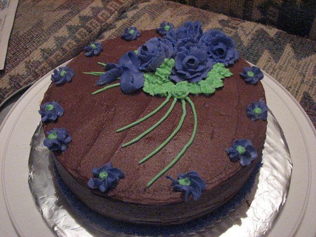 My first buttercream rose cake