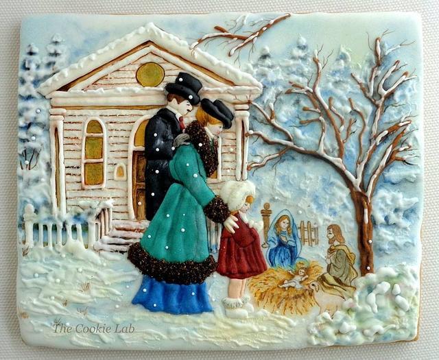 "My Cookie "" Christmas Card"" - Nativity"