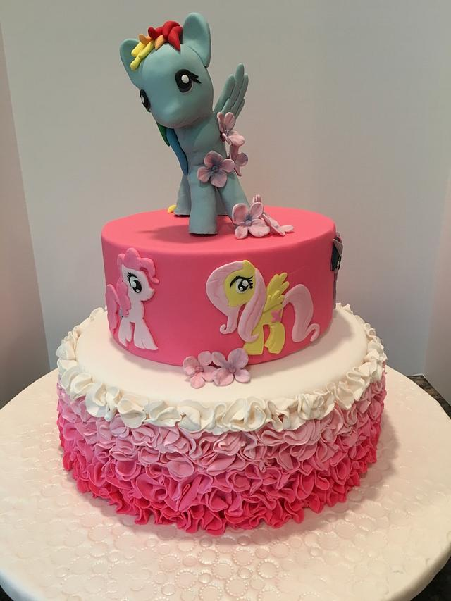 Brilliant Rainbow Dash Birthday Cake Cake By Pinkvelvet Cakesdecor Funny Birthday Cards Online Fluifree Goldxyz