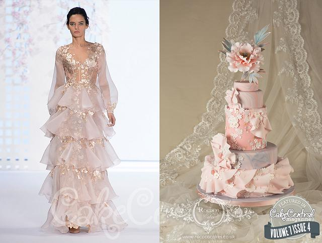 Ralph & Russo inspired cake - Cake Central Magazine Fashion Issue