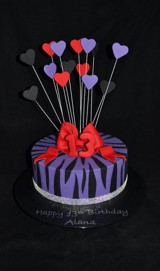 13th birthday cake