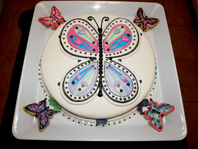 Granddaughter Brianna's Butterfly birthday cake