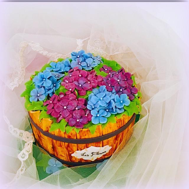 Wooden Flowerbox cake